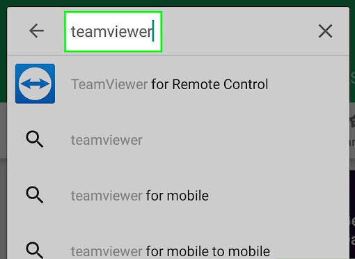 TeamViewer in android
